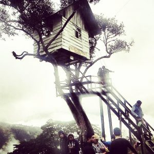 Locals hanging out by Casa de Arbol (tree house)