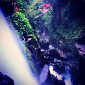 My only photo of the waterfalls in Baños